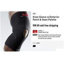 ★Brand New McDavid Knee Sleeve w Anterior Patch Open Patella 404