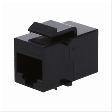 High Quality RJ45 Network Cable Joint Extend Connector Coupler (Black)
