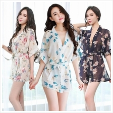 Floral Robe Sleepwear Sexy Lingerie S244 (3 Colour) Floral Robe Sleep
