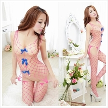 Pink Sexy. Open Crotch Body Stocking W026