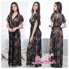 Chantilly Lace Long Dress Sleepwear Sexy Lingerie MS259 (2 Colour)