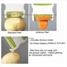 New Hot: Unique 2in1 Two-Way Rotary Flip Switch Peeler Cum Slicer
