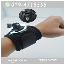 360-Degree Rotation Hand Wrist Strap Mount for gopro/action camera