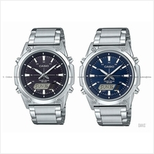 CASIO AMW-S820D STANDARD ana-digi solar world time stopwatch bracelet
