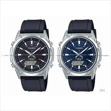 CASIO AMW-S820 STANDARD ana-digi solar world time stopwatch resin