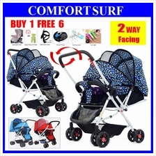 2 Ways Lightweight Foldable Baby Stroller Suspension Wheels FREE 4Gift