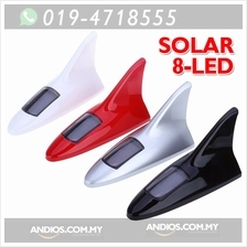 Shark Fin Shape 8 LEDs Solar Anti Collision Waterproof Warning Taillig