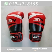 3N Boxing Glove Muay Thai MMA Sarung Tangan Fitness Training Gym 12oz