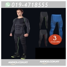 MC3 Men Sport Compression Long Pants Under Tight Fitness GYM