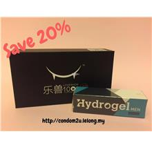 Hydrogel Men Gel Tahan Lama + Love Show Hyaluronic Condom (10pcs/Box)