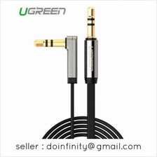 Ugreen 3.5mm Male 90 Degree Angle Audio Aux Car Phone Cable 3m 3 Meter