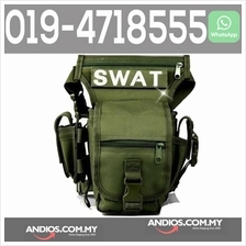 SWAT Utility Leg Outdoor Sport Waterproof Thigh Bag Beg Paha Kaki Gree