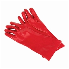 Sealey PVC Chemical Handling Gauntlets 355mm Cuffed - Pack of 12 Pairs