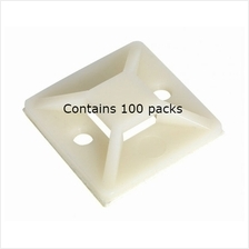 Sealey Self-Adhesive Cable Tie Mount 20 x 20mm White Pack of 100