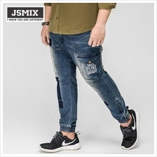JSMIX Men's Plus Size (40'-48') Trendy Jogger Jeans 64JN0109)