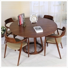 540803087059 Nordic solid wood dining table and chairs