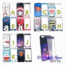 OPPO A71 A77 F3 CARTOON CASE ~ FREE TEMPERED GLASS