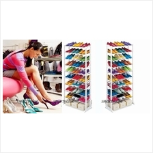 Amazing 10 Tiers Shoe Shoes Rack - Store 30 Pairs & Save Space Today