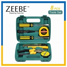 ZEEBE 8 Pcs Alloy Steel Hardware Hand Tools Sets Kit with Case