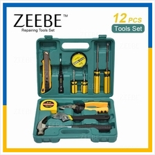 ZEEBE 12 Pcs Alloy Steel Hardware Hand Tools Sets Kit with Case