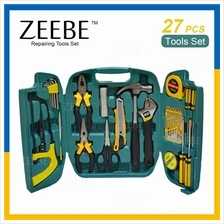 ZEEBE 27 Pcs Alloy Steel Hardware Hand Tools Sets Kit with Case