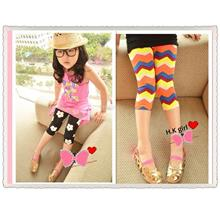 kid printed design knee length legging  3-7 yr)