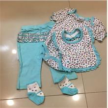 Baby Girl 4pcs Romper Sets)