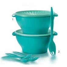 Tupperware Joy Keeper Bowl (2) 3.8L + Fork (4)