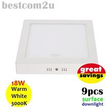 [9x] 9 Inch 18W LED Ceiling Surface Downlight (Square)
