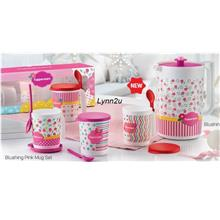 Tupperware Blushing Pink Mug Set (4) 350ml + Pitcher (1) 2L