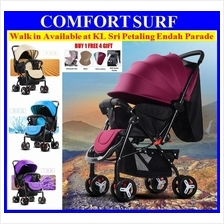 2 Way Lightweight Foldable Baby Stroller Suspension Wheels FREE 4 Gift