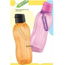 Tupperware Eco Bottle Flip Top (2) 750ml Free Tag - Orange & Pink