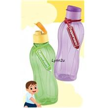 Tupperware Eco Bottle Flip Top (2) 750ml Free Tag - Green & Purple