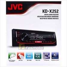 JVC KD-X252 Single DIN USB Aux FM AM Radio Digital Media Car Stereo (N