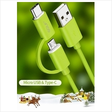 Golf GC-20T Type C and MicroUSB 2in1 cable (1meter) for Samsung Huawei