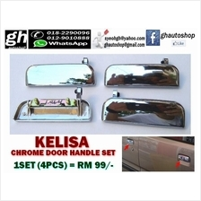 KELISA SPORTY CHROME DOOR HANDLE SET (4PCS)