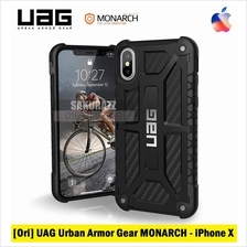 [Ori] UAG iPhone X MONARCH Rugged Double Military Case (Carbon Fiber)