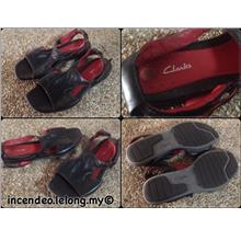 **incendeo** - Authentic CLARKS Black Leather Sandal for Ladies