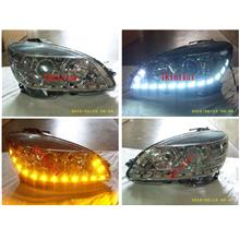 Mercedes Benz W204 `07 Head Lamp with 2-Function LED DRL R8