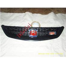Honda Civic 01 Front Grille RS Type All Black+Red H Logo [HD13-FG03-U]