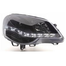 VW Polo 05 DRL R8 Projector Head Lamp [With / Black]