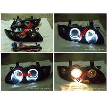MAZDA MX6 '93-'97 Crystal Projector LED Ring Head Lamp