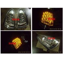 Proton Wira / Satria / Putra / Arena Black/Chrome Face LED signal lamp
