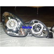 Lexus GS300 '98-05 Projector Head Lamp CCFL Ring Chrome Housing