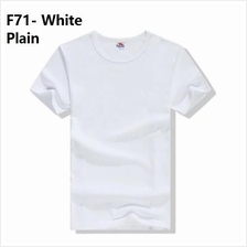 Korean plain cloth clothing baju kurung melayu guy men t shirt white