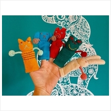 Finger Puppets Train 100% Handmade