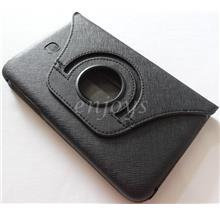 Rotate Leather Pouch Cover Samsung Galaxy Tab 3 7.0 P3200 T211 ~BLACK