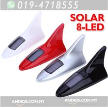 Solar Powered Car 8Led Warning Flash Shark Fin Tail Light Lampu kereta