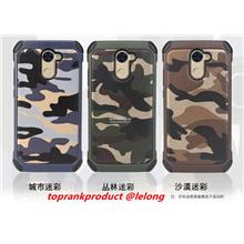Huawei Y7 Prime Camouflage ShockProof Back Case Cover Casing + Gift
