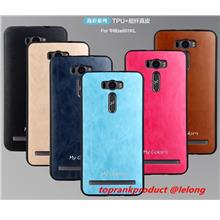 Asus Zenfone 2 Laser ZE601KL 6 Leather Silicone Back Case Cover Casing
